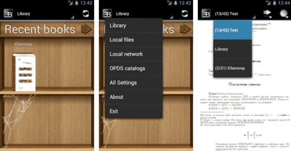 EBookDroid – PDF & DJVU Reader is one of the top eBook reader apps for Android.