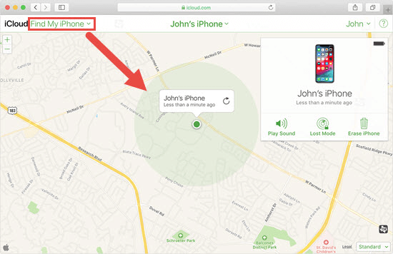Using Find My iPhone Instead