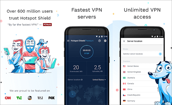 Hotspot Shield is one of the top best free Android VPNs that are still working.