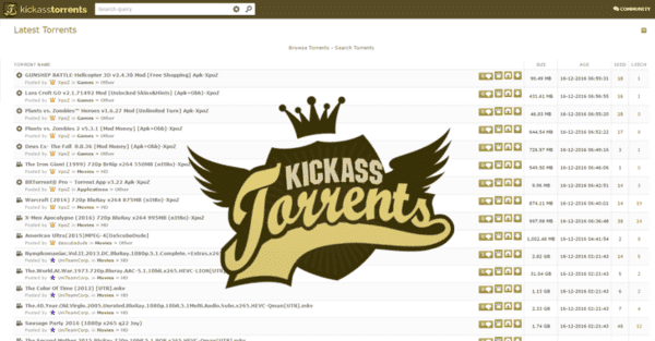 Kickass Torrents or KAT is one of the oldest and efficient torrents search engines with a variety of Bollywood movies.
