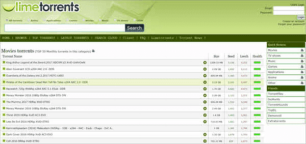 LimeTorrents has come up as an excellent alternative to torrent sites like Kickass Torrents and The Pirate Bay.