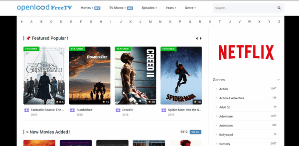 Open Load Free TV can be considered to replace The Dare TV website.
