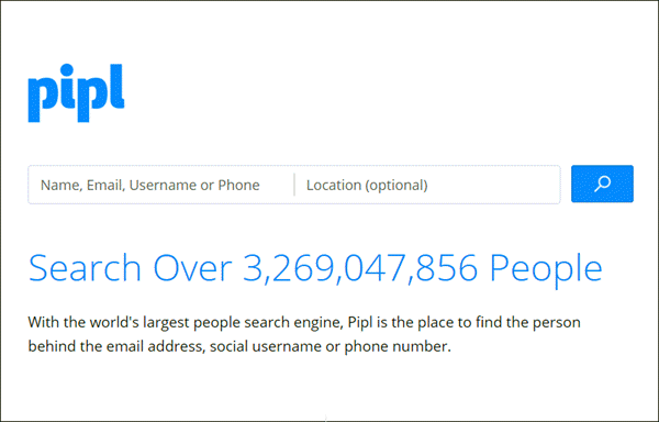 Pipl.com uses search engines to find out the results related to a number.