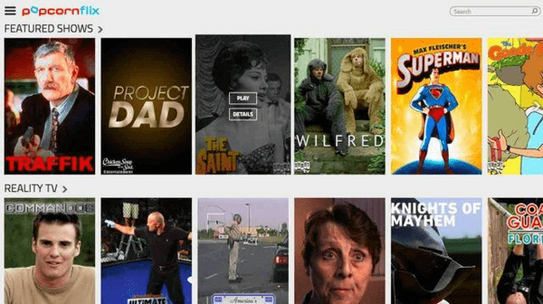 The third best site that you can go for is Popcornflix.
