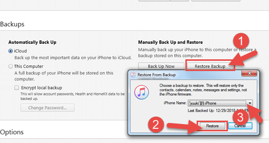 Restore iPhone Contacts from iTunes Backup