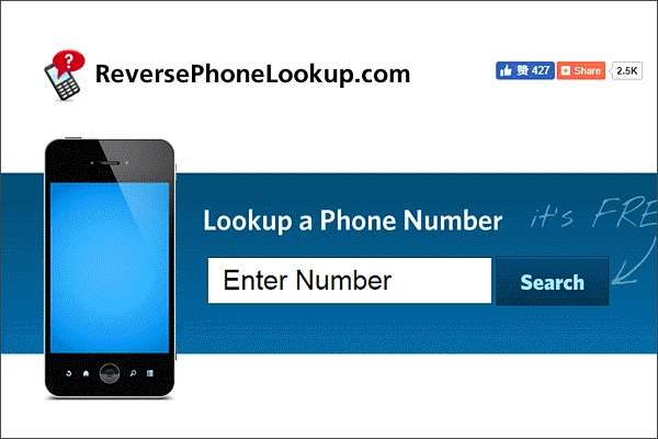 Reverse Phone Lookup is designed specifically for people who want to figure out who's calling them.
