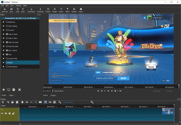 Shotcut is one of the top alternatives to iMovie for Windows.