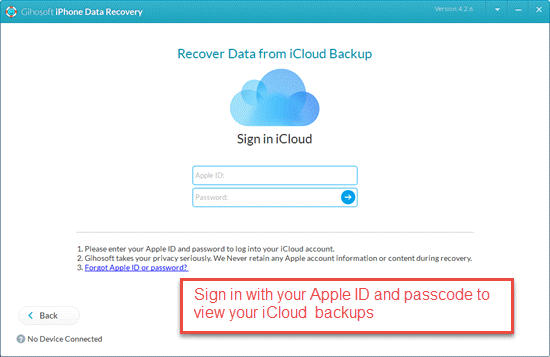 Recovery from iCloud backup