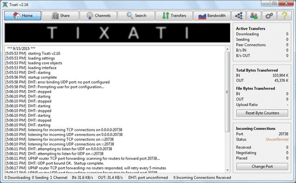 Tixati offers a clutter-free interface with many features and tools which make it a reliable alternative to uTorrent.