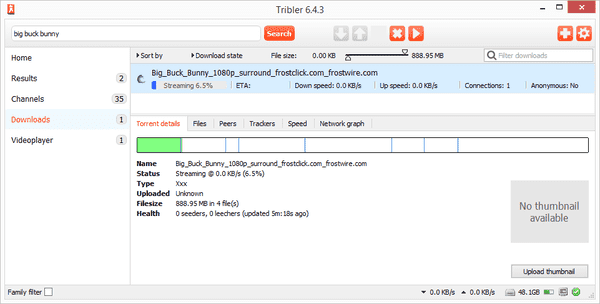 Tribler is one of such productive torrent client software with a torrent search engine.