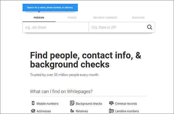 We're here to help you find people with the white pages directory!