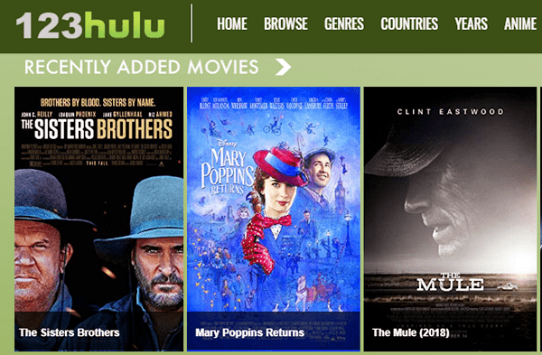 123Hulu is another best free movie streaming website to watch movies, TV series, web series, documentaries, short films, and docuseries for free.