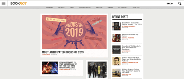 Book Riot website can be considered as another very good website for the users who are fond of browsing e-books collection.