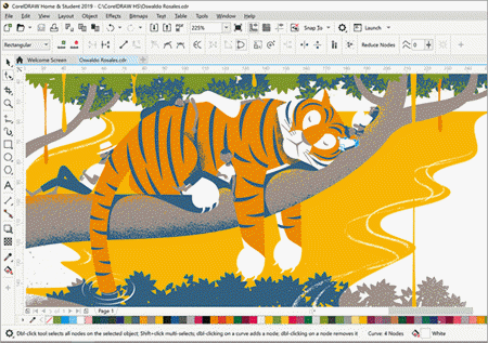 CorelDraw allows you to have full control of your work so that you can obtain dynamic results.