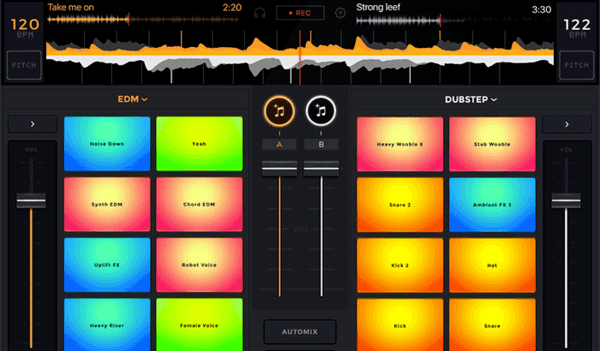 The edjing mix is a free application for iOS and is compatible with iPhone, iPad