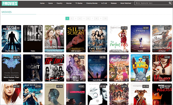 Fmovies has a lot of ads but it collects a large number of popular TV series and movies.