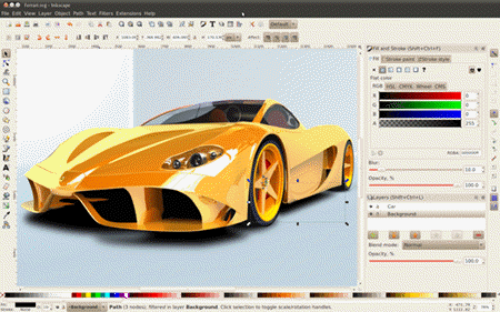 Inkscape is the perfect tool for experiencing royalty free image creation.