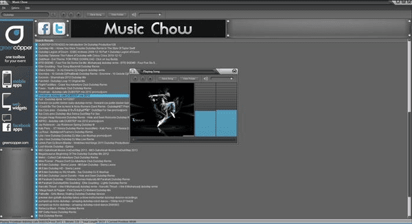Music Chow is actually not the software; it is the website where you can get every song of any genre.