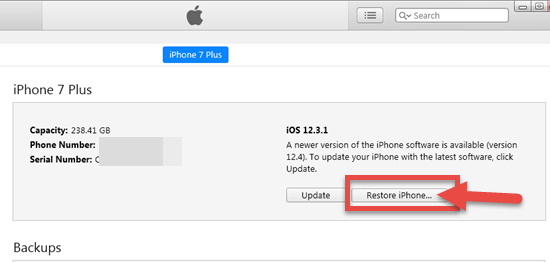 Restore Your iPhone to Factory Settings to Fix iPhone No Sound on Calls Issue