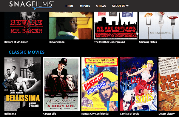 SnagFilms is one of the largest free streaming movie sites online.