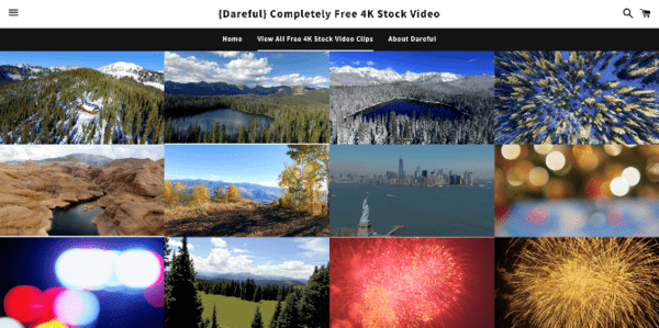 Dareful.com is the free source for the 4K video clips.