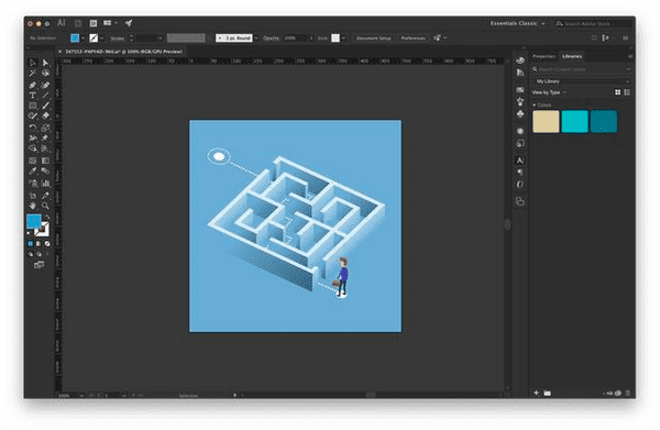 Adobe Photoshop is a major competitor to Adobe Illustrator