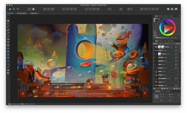 Affinity Designer has been specifically designed for Mac users.