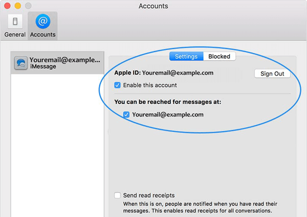 Check iMessage Settings on iPhone/Mac