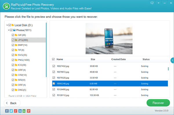 Preview and Recover Lost PSD Files