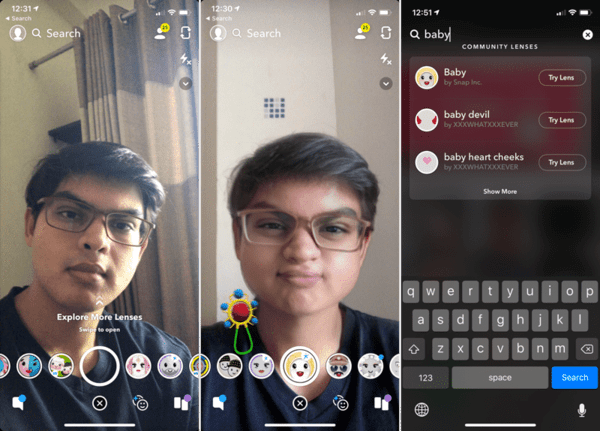How to use Snapchat's Baby Filter?