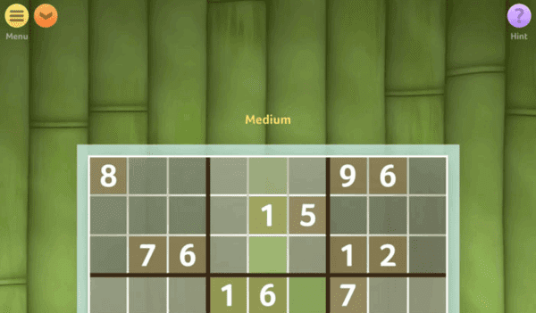 Sudoku by Brainium studios is yet another classic example of a Sudoku game.
