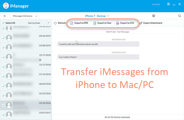 How to Transfer iMessages from iPhone to Mac using Gihosoft iManager