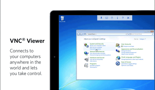 VNC Viewer supports cloud service, and hence, allows you to be able to make a connection with your PC faster.