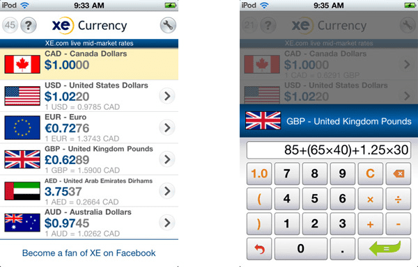 With XE Currency, you can convert currency smoothly.