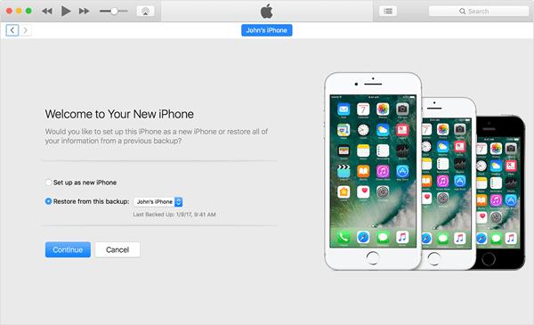 Activate iPhone using iTunes