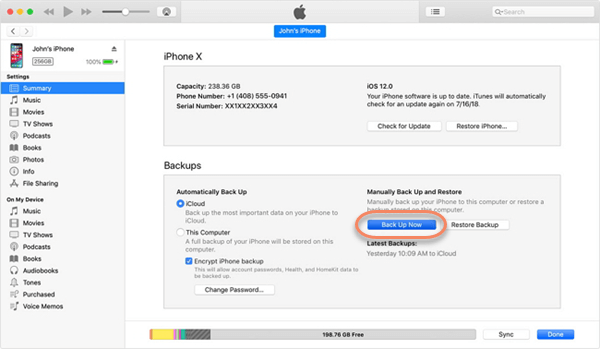 How to backup iPhone with iTunes before upgrading to iOS 13.