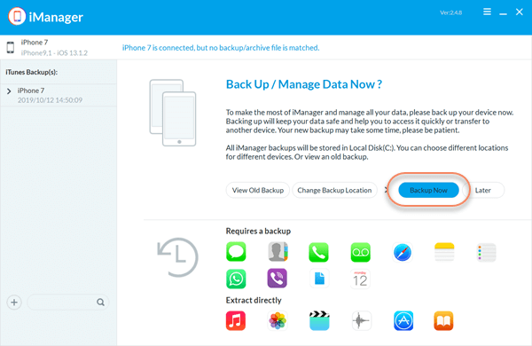 Transferring WhatsApp messages and other data from iPhone to your computer..