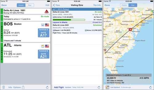 This app is a premiere app for tracking flights.