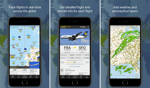 Flightrader24 is a really fun app to use that is extremely easy and very helpful.