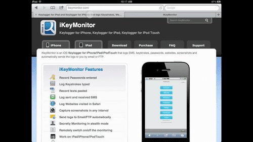 How to hack an iPhone remotely via iKeyMonitor