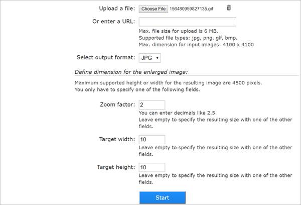 It may be rare to see, but in ImageEnlarger, you can improve photo resolution by URL.