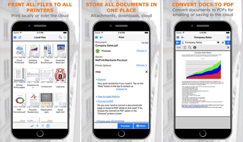 PrintCentral Pro is also an excellent app for printing from iOS.