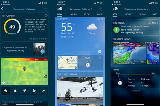 Weather Bug is a weather application Watch Apple famously known to give perfect and updated weather forecasts.