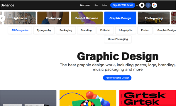 Behance is also one of the most famous artist communities