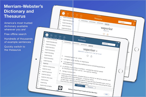 Meeriam- Webster dictionary is very popular as many use this app.