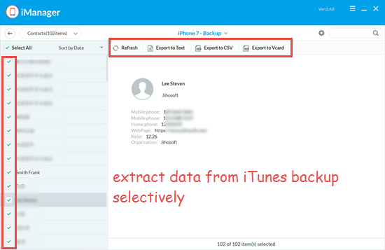 Extract Data from the Corrupt or Incompatible iPhone Backup