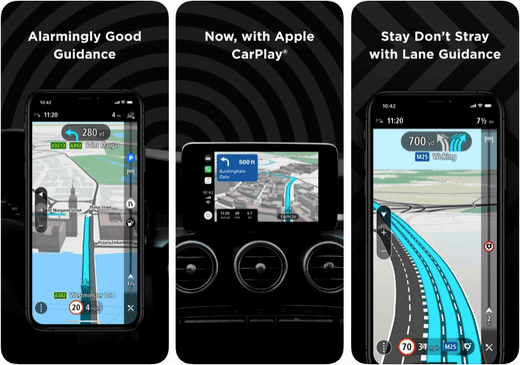 TomTom Go Navigation helps you with all the hazard-free routes.