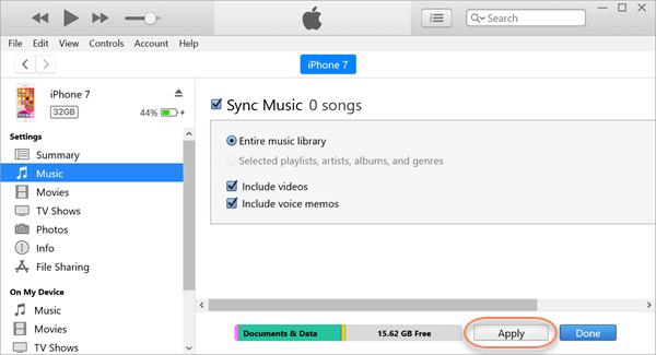 Transfer Music from Computer to iPhone via iTunes