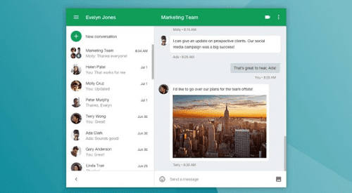 The app is known as Google Hangouts, and it is a free video calling app for all.