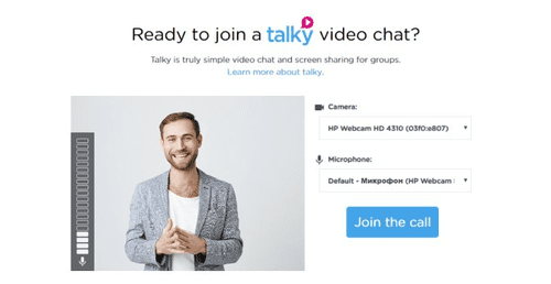 Last but not least, the video call the PC app is Talky.